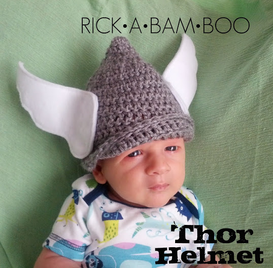 Baby Thor Crochet Helmet