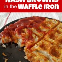 Super Easy Hash Browns in the Waffle Iron