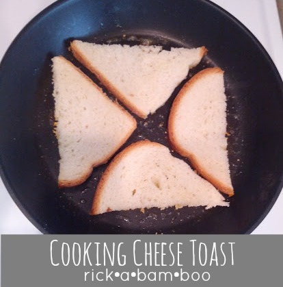cooking cheese toast