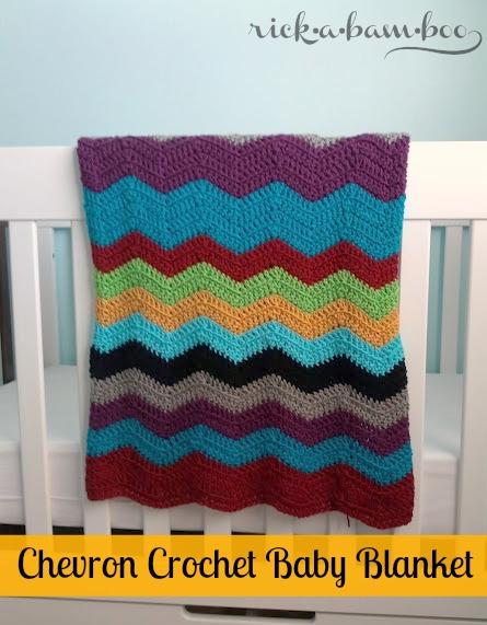 chevron crochet baby blanket