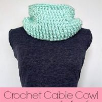 Crochet Cable Cowl