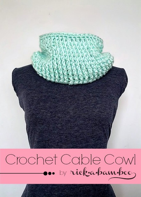 Free Crochet Pattern For Cable Scarf : Crochet Cable Cowl