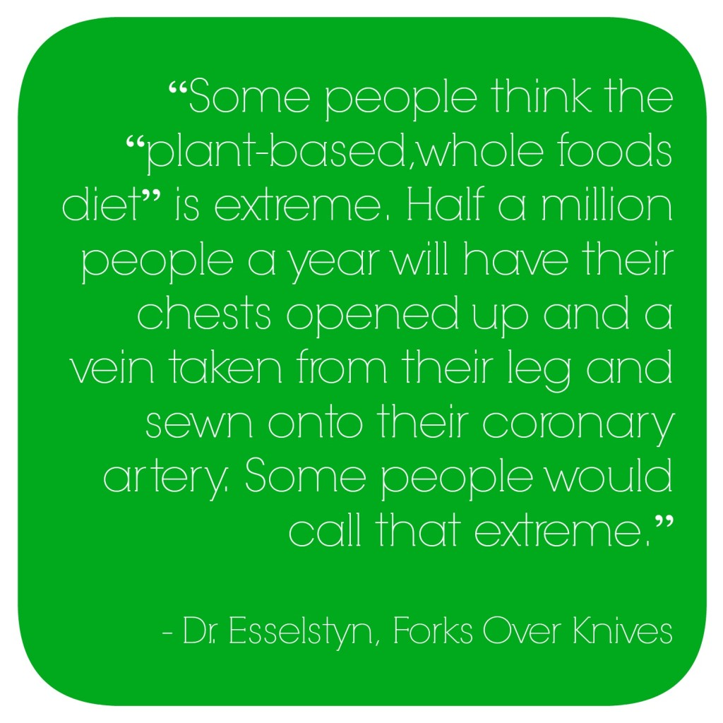 Whole food diets are not extreme