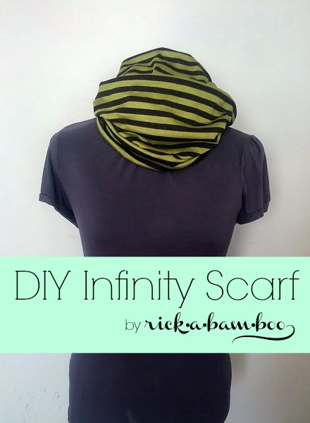 DIY Infinity Scarf | rickabamboo.com | #scarf #DIY