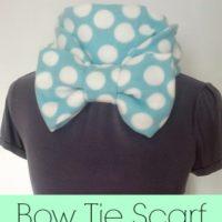 Fleece Bow Tie Scarf
