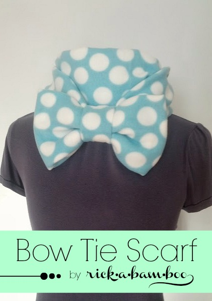 Fleece Bow Tie Scarf