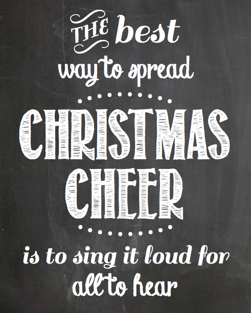 Christmas Cheer Chalkboard Printable | rickabamboo.com | #elf #holidays