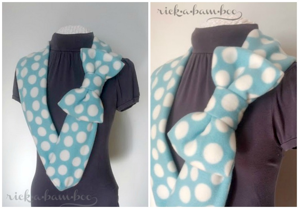Bow Tie Scarf | rickabamboo.com | #DIY