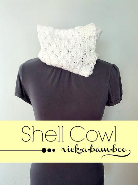 shell cowl | rickabamboo.com | #crochet #cowl