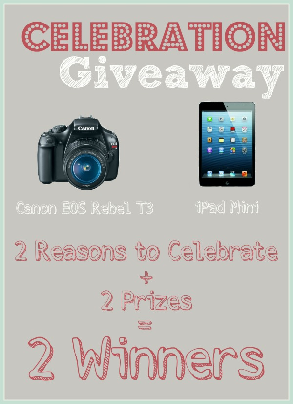 Celebration Giveaway | rickabamboo.com | #canonrebel #ipadmini