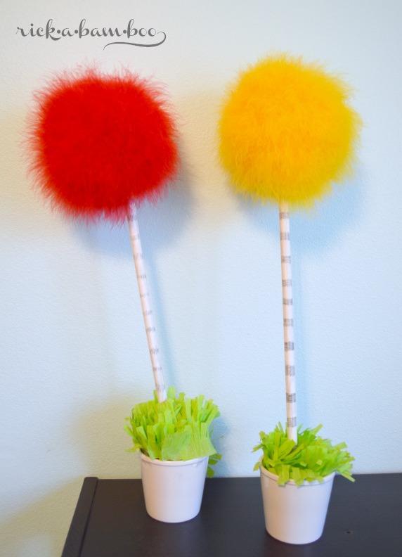 Truffula Trees | rickabamboo.com | #drseuss #lorax #DIY #bloggerettes