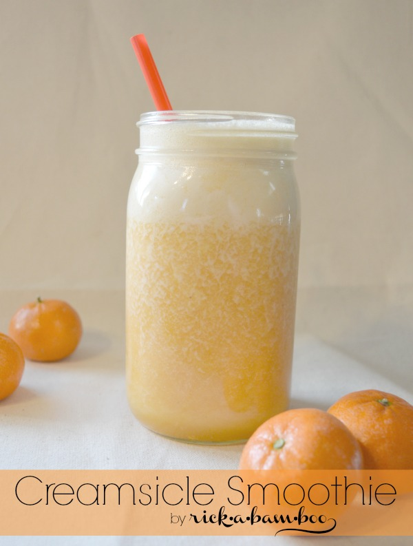Creamsicle Smoothie | rickabamboo.com | #cleaneating #raw #lactosefree