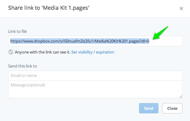 Dropbox Share Link