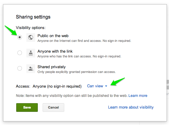 Google Drive Share Settings | rickabamboo.com | #printables