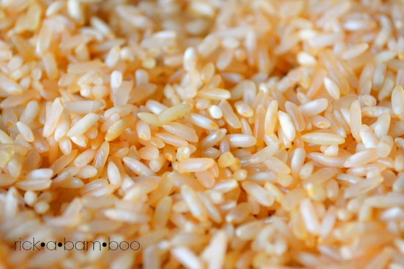 Apricot Rainbow Rice | rickabamboo.com | #sensorybin #preschool