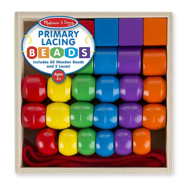 Melissa & Doug Bead Set.  Perfect for for lacing, counting, color recognition, sorting, stacking, pattern play, spatial reasoning and even imaginative. | ambersimmons.com