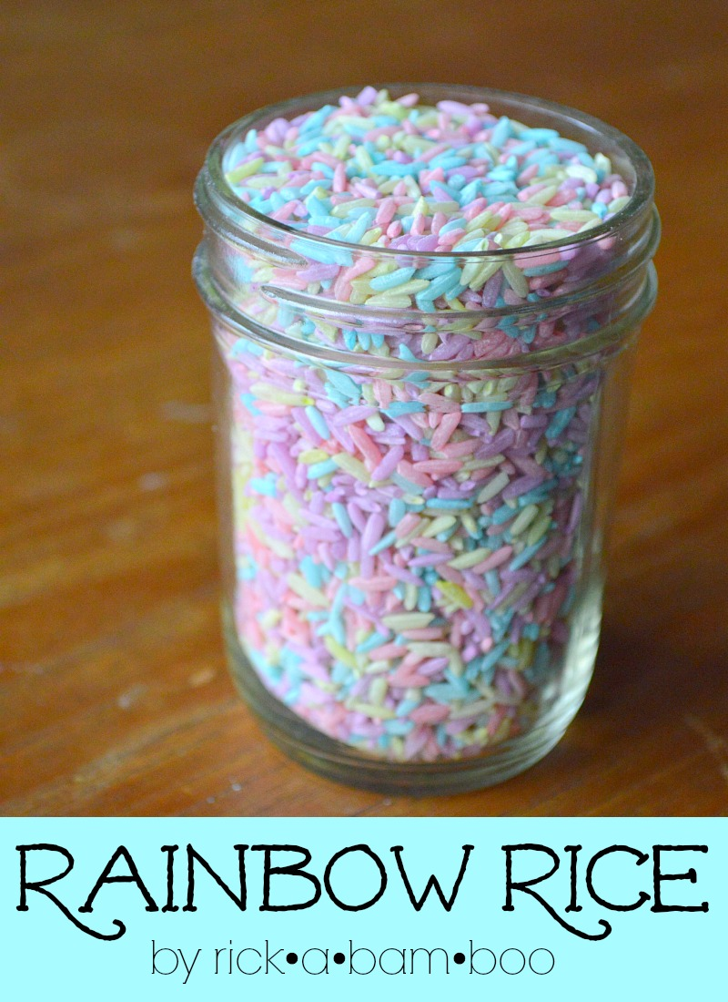 Rainbow Rice | ambersimmons.com | #sensorybin #preschool