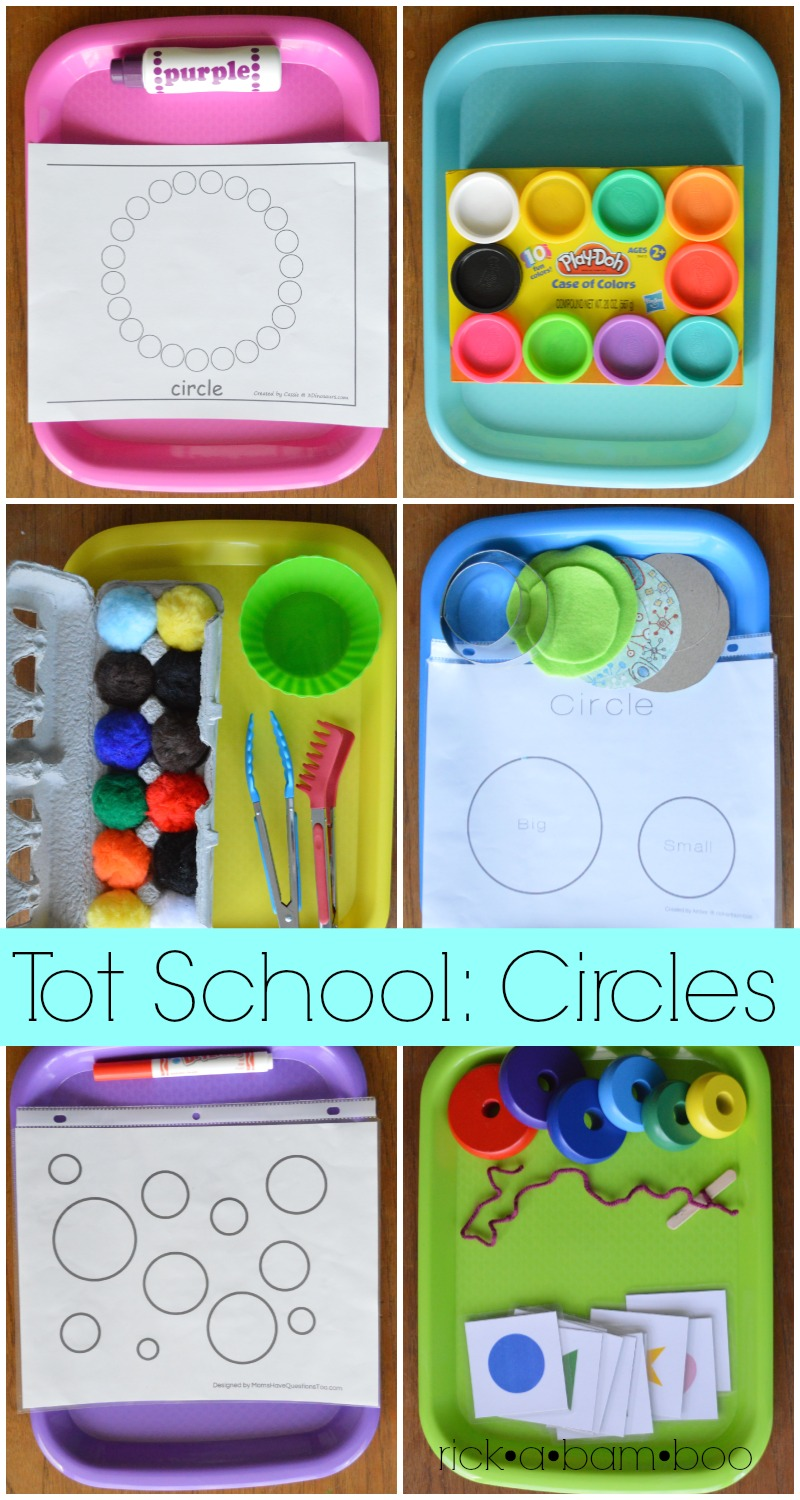 Tot School: Circles | rickabamboo.com | #montessori #preschool #homeschool