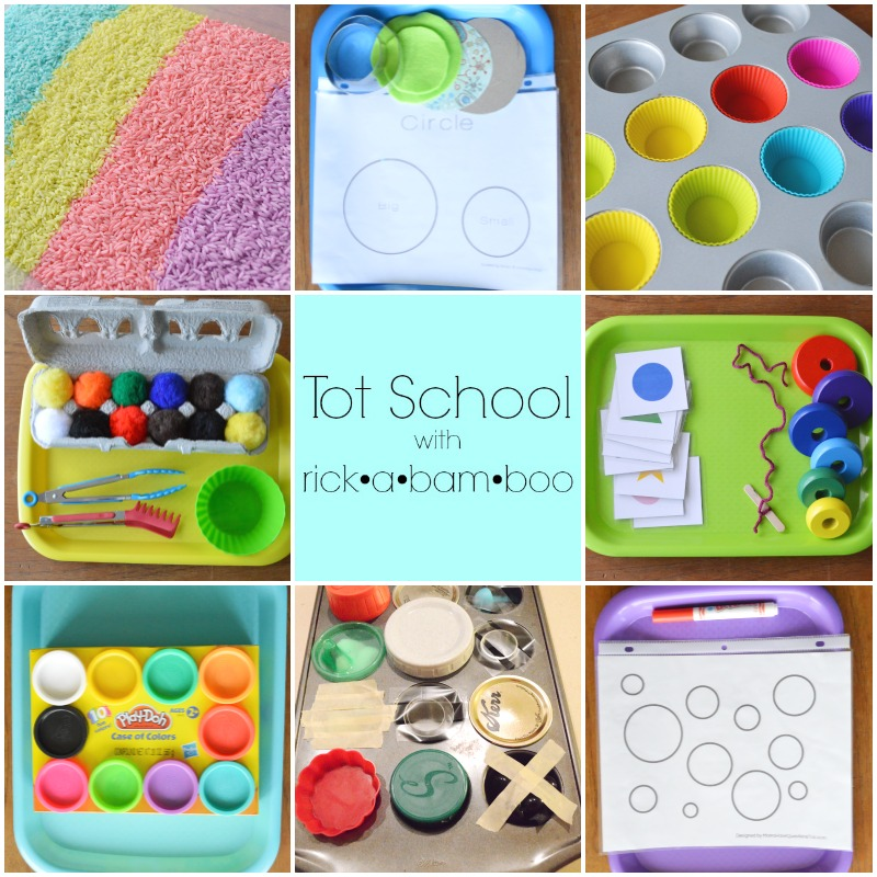 Tot School | rickabamboo.com | #montessori #preschool #homeschool
