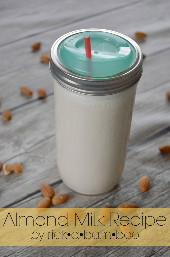 Almond Milk Recipe | rickabamboo.com | #diy #lactosefree