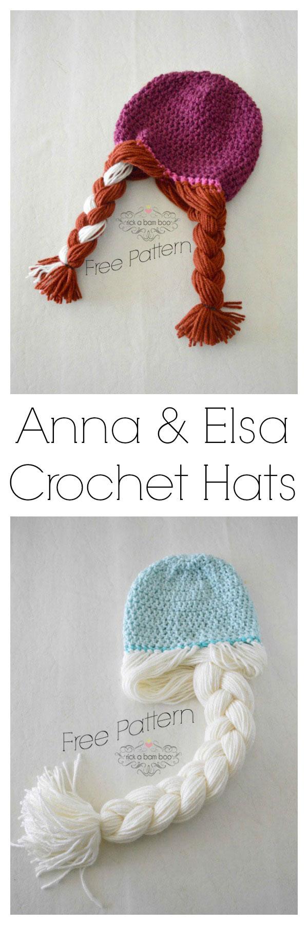 Anna & Elsa Crochet Hats | rickabamboo.com