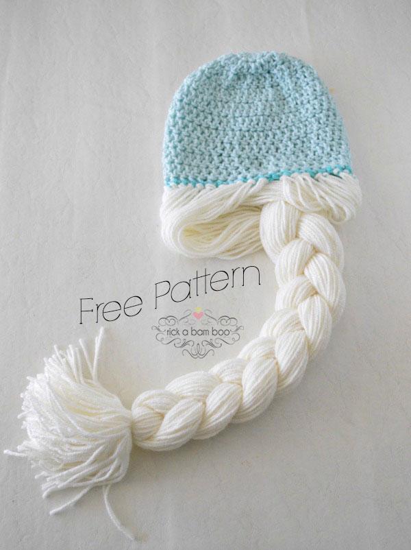 Elsa Crochet Hat Free Pattern | rickabamboo.com
