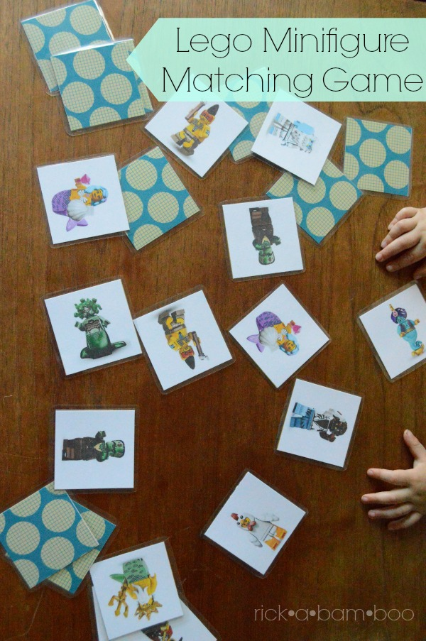Lego Minifigure Card Game | rickabamboo.com | #matching #memory #busybag