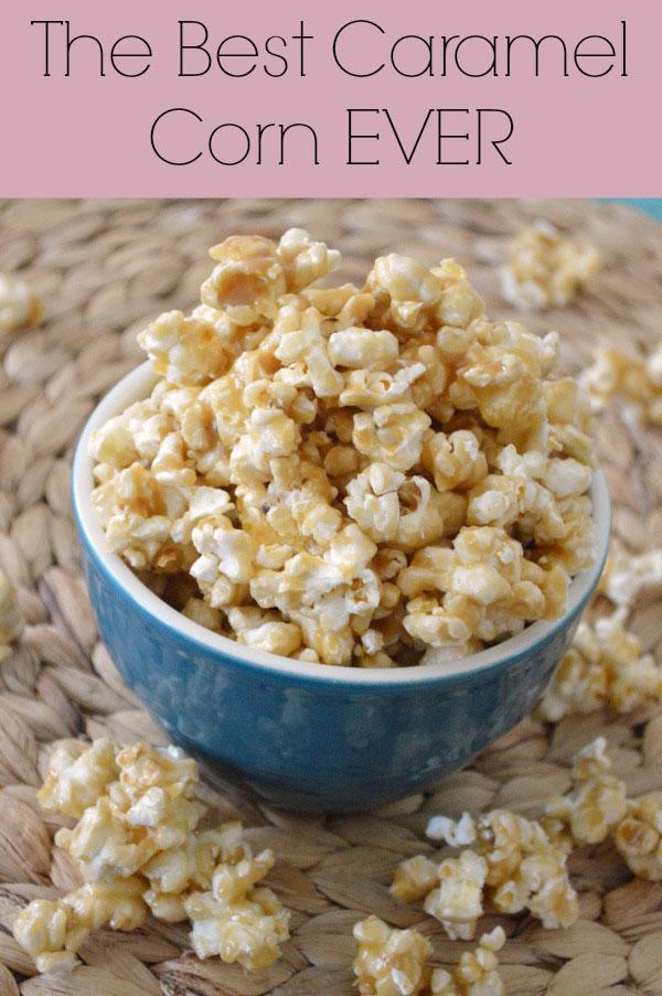 The Best Caramel Corn EVER   rickabamboo.com   #popcorn #movie #caramel
