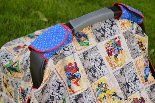 DIY Car Seat Cover | rickabamboo.com | #handmade #canopy #baby