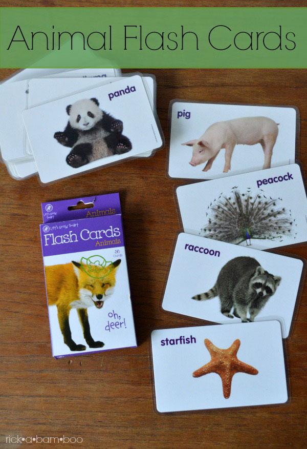 Animal Flash Card Busy Bags | rickabamboo.com | #flashcards #busybags #preshcool