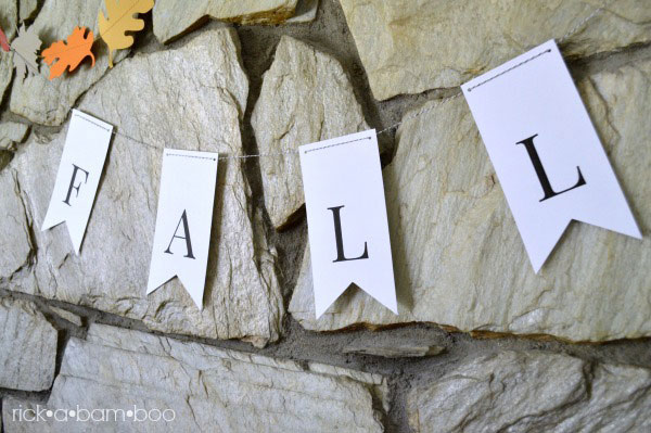 Fall Banner Printable | rickabamboo.com | #free #printable #autumn