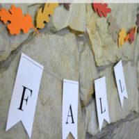 Fall Banner Printable