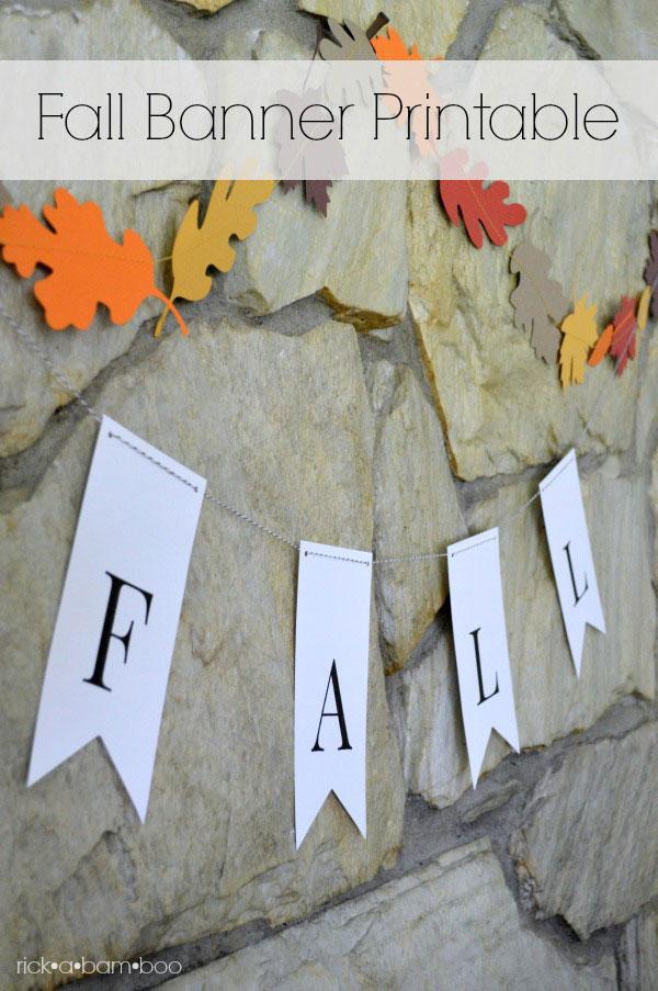 photograph regarding Fall Banner Printable referred to as Drop Banner Printable - Amber Simmons