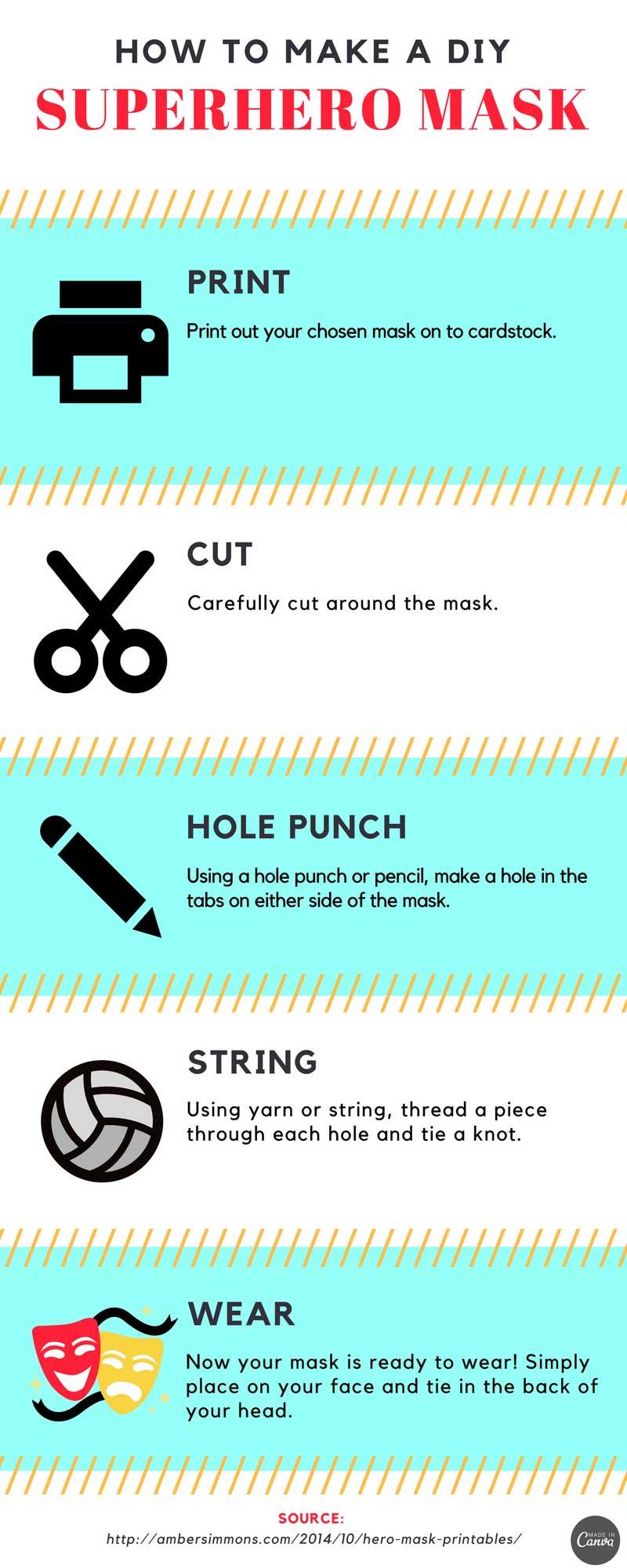 how to make a superhero mask