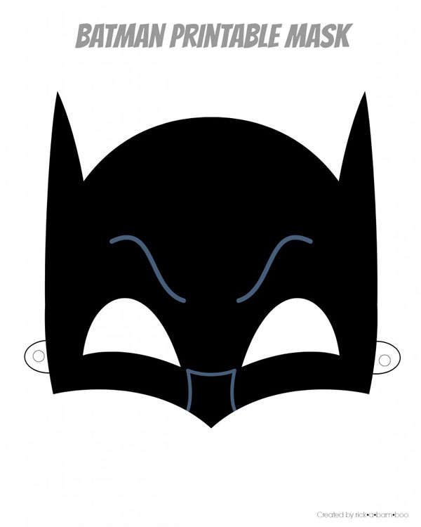 Batman printable superhero mask