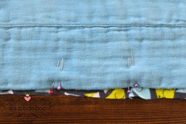 Cloth Diaper Burp Cloth Tutorial {Part 2} - Sewing flannel fabric to cloth diapers   rickabamboo.com