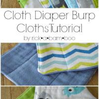 Cloth Diaper Burp Cloths {Part 1}