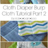 Cloth Diaper Burp Cloths {Part 2}
