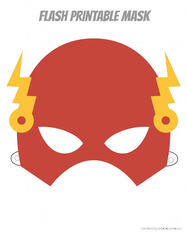 Flash printable superhero mask