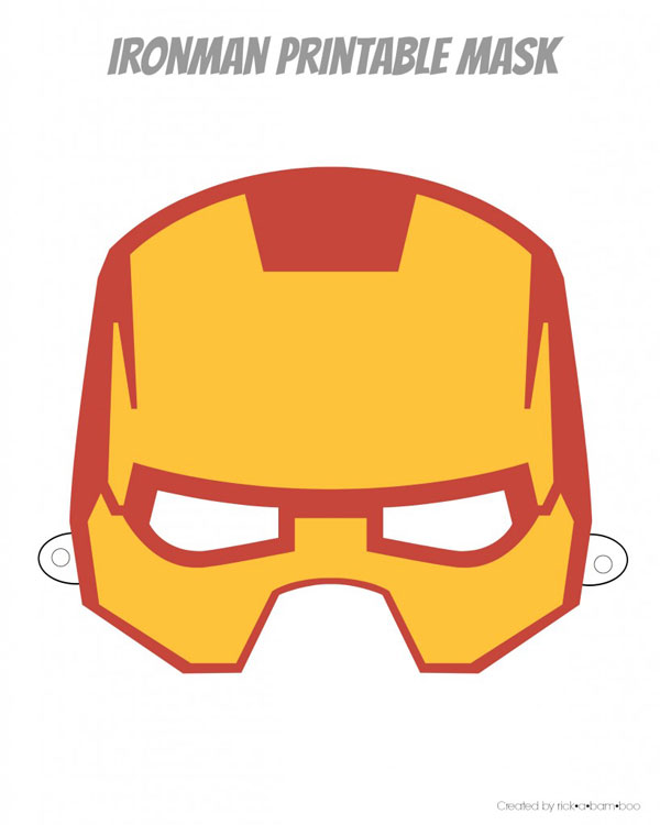 Ironman printable superhero mask