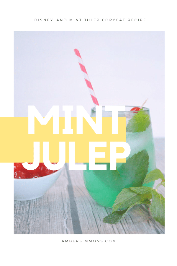 Inspired by the delicious mint juleps from Disneyland, this copycat mint julep recipe makes you feel like you are at the happiest place on earth. #disney