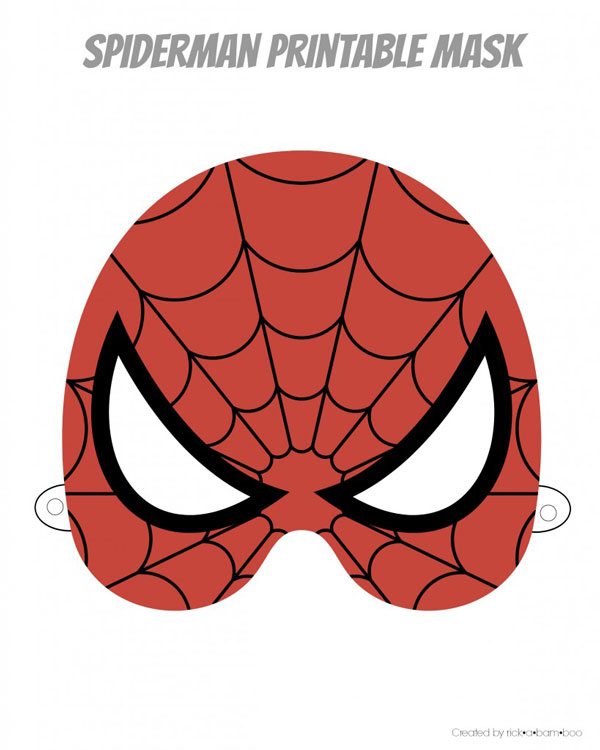 Spiderman printable superhero mask