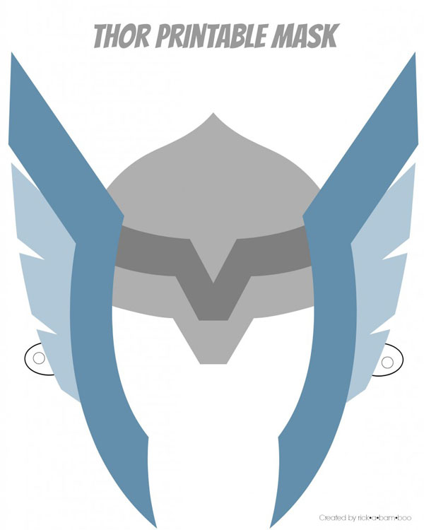 Thor printable superhero mask
