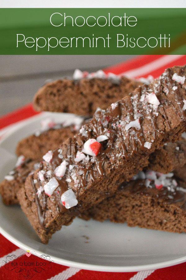 Chocolate Peppermint Biscotti Recipe | rickabamboo.com