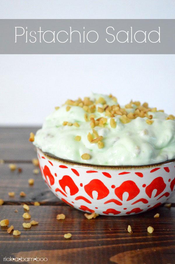 Pistachio Salad Recipe | rickabamboo.com | #side #thanksgiving #holiday