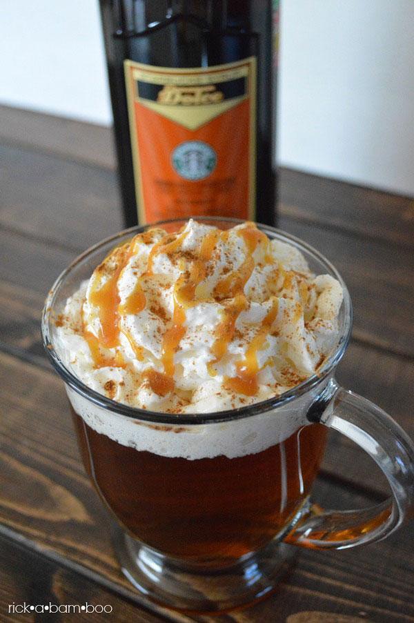Starbucks Copycat Caramel Apple Cider | rickabamboo.com | #drink #hot #falll