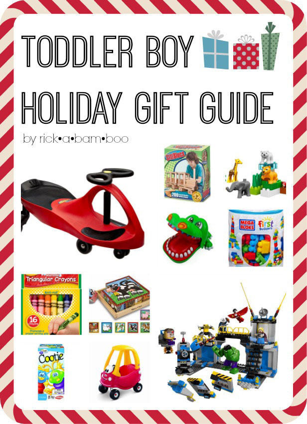 Toddler Boy Holiday Gift Guide | rickabamboo.com | #present #ideas #christmas