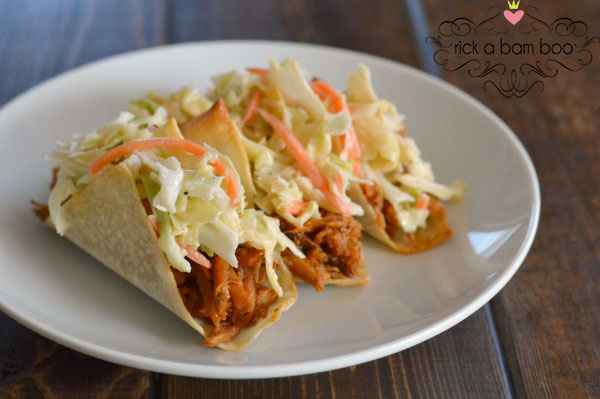 BBQ Pork Wonton Tacos | rickabamboo.com
