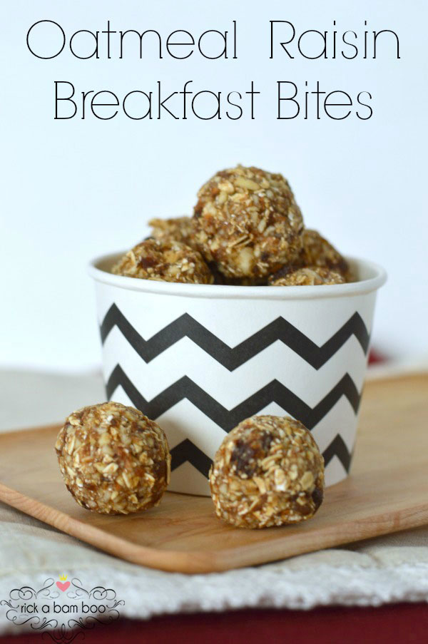Oatmeal Raisin Breakfast Bites