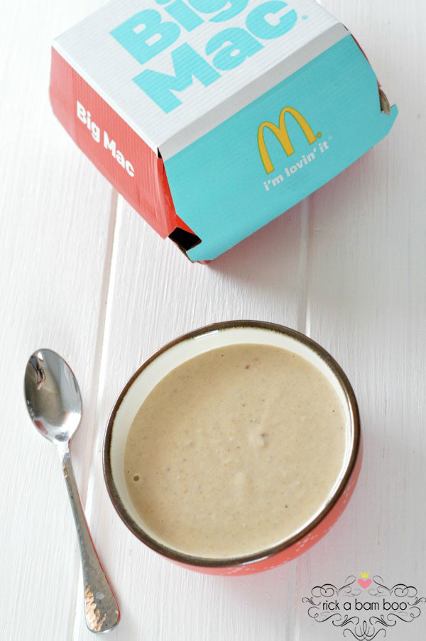 Big Mac Baby Food Recipe | rickabamboo.com